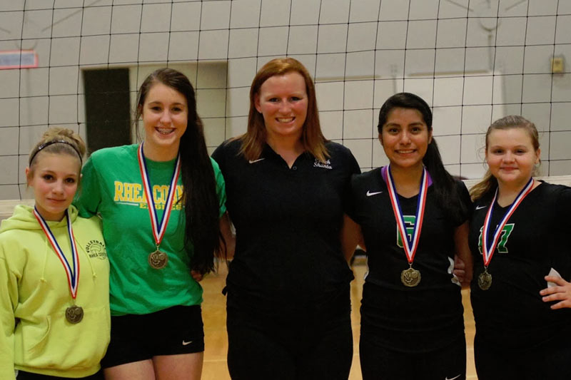 Four Rhea Middle Volleyball players named All-Conference