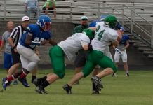 Senior LB Zach Daoust #24 and Junior LB Tyler Pendleton #40