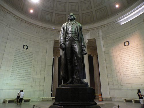Inside the Jefferson Memorial. Photo Credit: nicwn cc