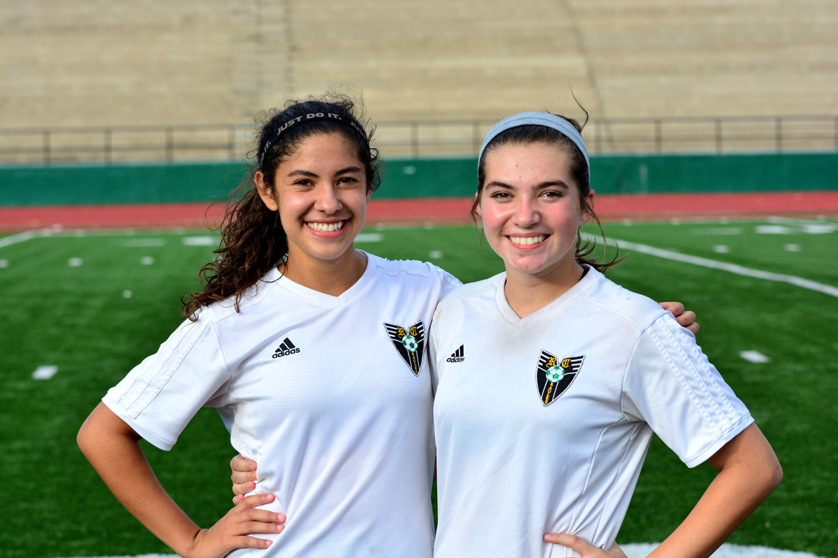 Alexis Ayala and Olivia Conner(left to Right) scored the 2 goals for the Lady Eagles on Saturday as Rhea County Soccer won 2-0 over Cumberland County lady Jets. The Lady Eagles advance to Cookeville for 8 pm game on Tuesday.(Photo:GaryBolden/RheaReview.)