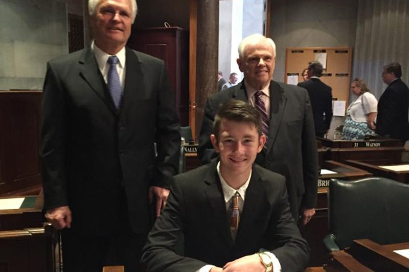 Local Student, Ross Pendergrass, is Senate Page