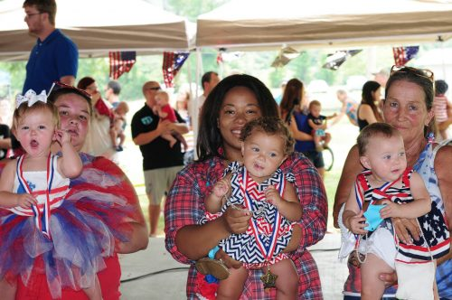 2016 Baby Miss Firecracker Winners. Left to right: 2nd- Raegan Dyer, 1st - Stella Smith 3rd - Kaisha Edie-ruth Waller.