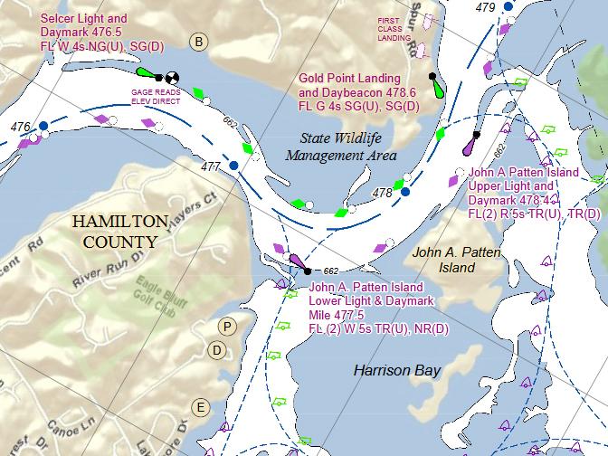 Two boaters found dead on chickamauga lake for Lake chickamauga fishing map
