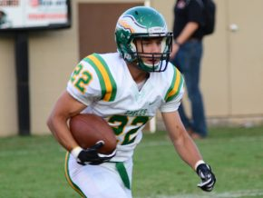 Junior Christian Simon posts 240 all-purpose yards in career night. (GaryBolden/RheaReview)