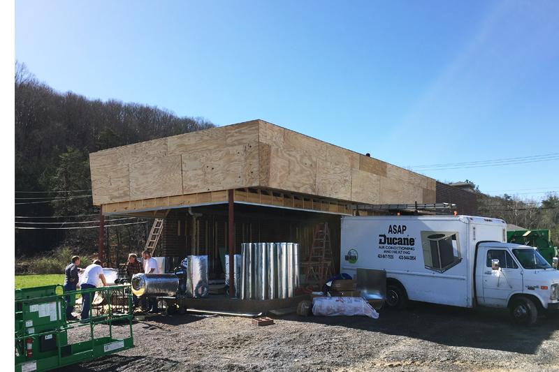 Waffle House under construction.
