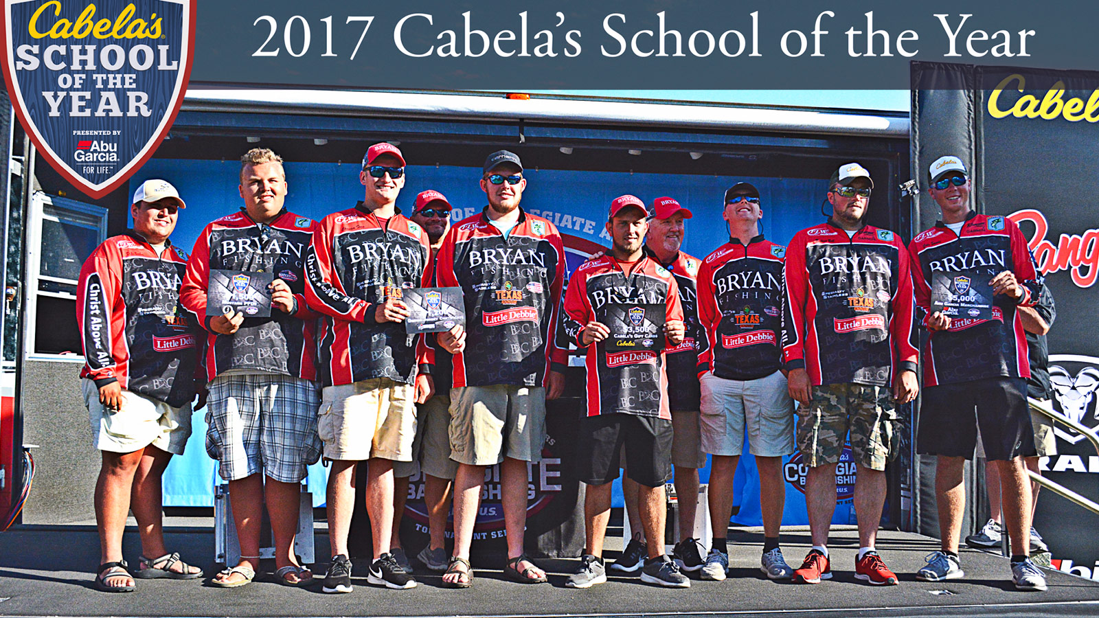 Bryan fishing wins 2017 cabela s school of the year for Cabelas college fishing