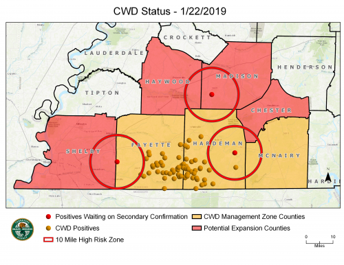 TN Counties added to CWD Zone