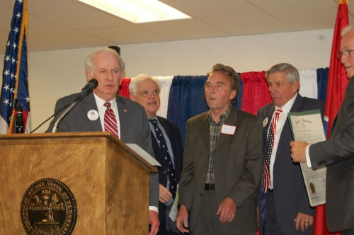 """Carroll Henderson is awarded """"Elmer Hinds Republican of the Year Award"""""""