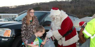 Graysville Fire Department Christmas for kids