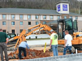 Carrabelle's Casual Cafe restruant under construction.
