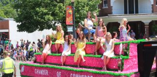 The 2016 Distinguished Young Woman's Float