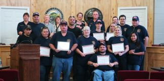 Graysville Fire Department member being honored