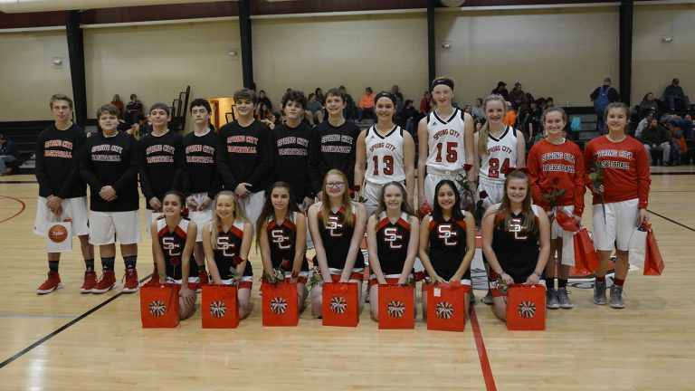 Spring City Eighth Grade Basketball Honored