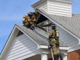 Evensville Methodist Church Fire